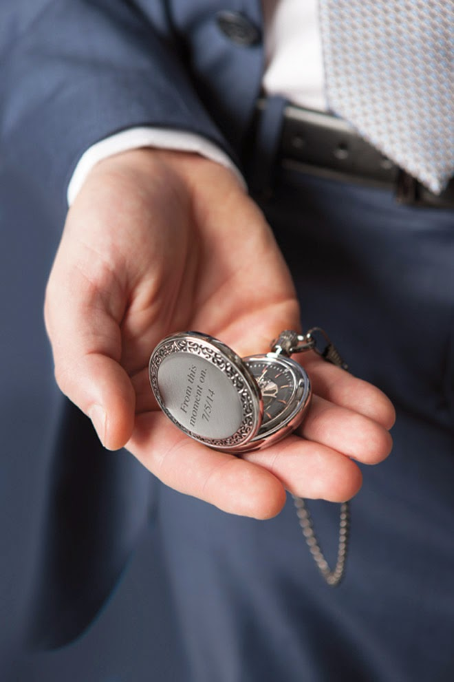 Perfect Wedding Gift From Groom To Bride : Pocket Watch: The Perfect Gift from Bride to Groom - Belle The ...