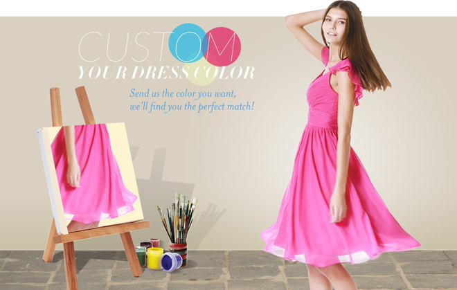 Customize Your Bridesmaid Dress Color With For Her and For Him!