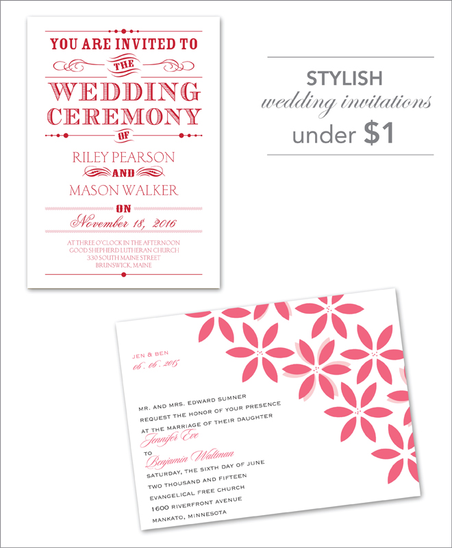 Stylish Wedding Invitations Under A 1 Belle The Magazine