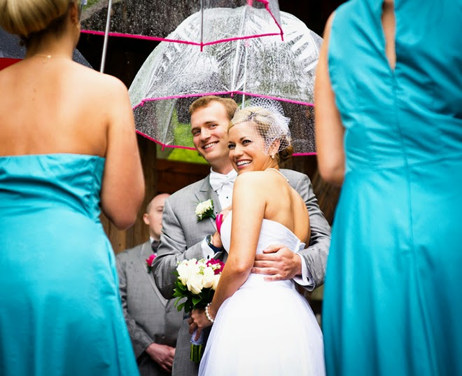 April Showers Wedding