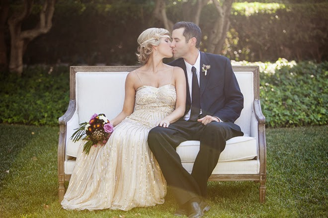 Old Hollywood Glam meets Art Deco Wedding Inspiration