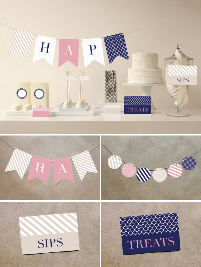 A Preppy Bridal Shower : Minted Party Decor