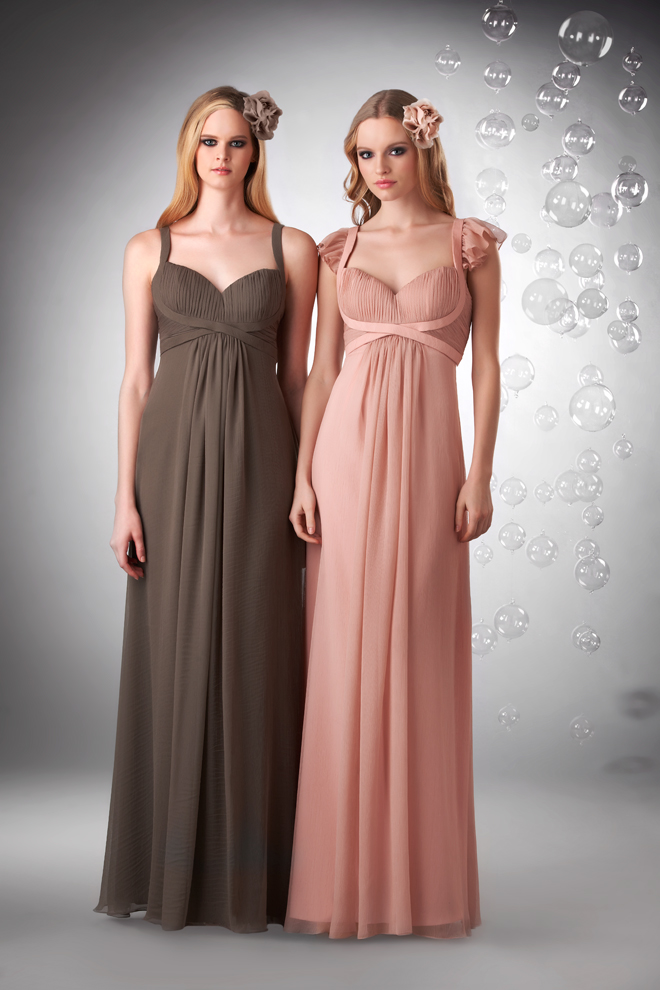 New + Gorgeous Crinkle Chiffon Bridesmaids Collection by Bari Jay