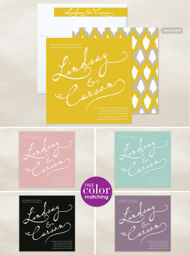 Wedding Color Love – Stationary