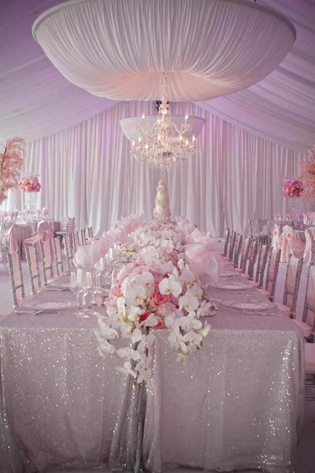 Draping Wedding Reception Venue Tent