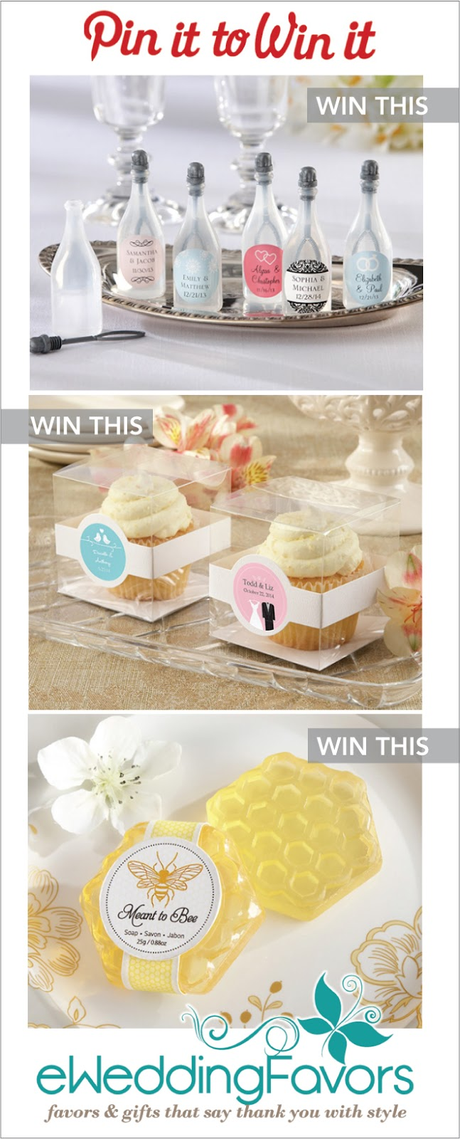 Introducing eWeddingFavors.com + ?Pin It To Win It? Giveaway