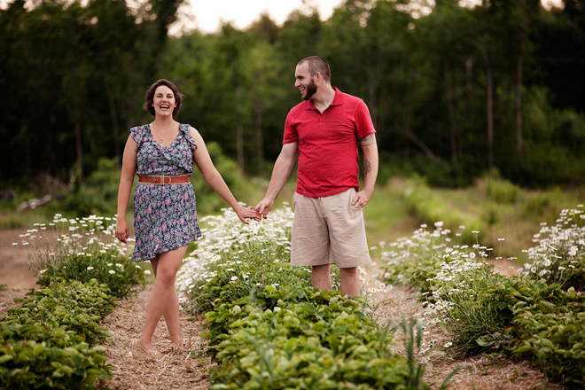 Strawberry Farm Engagement Session