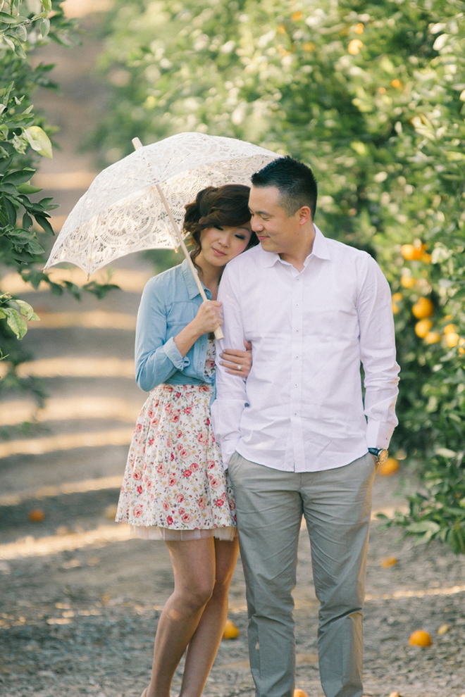 Oranges and Love : A California Citrus State Historic Park Engagement Session to Remember