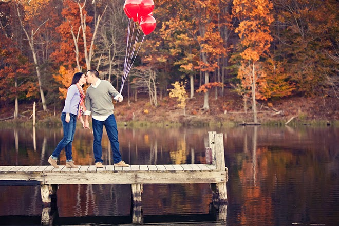 Romantic Autumn Engagement Session in Maryland