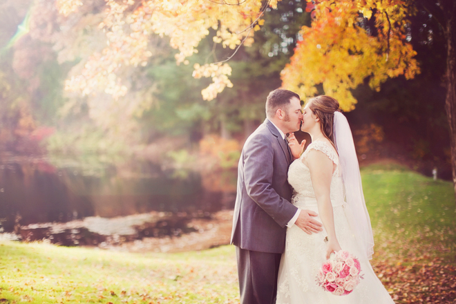 Vintage Pink Autumn Wedding
