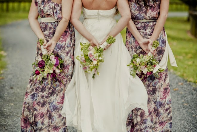 {Wedding Trends} : Floral Bridesmaid Dresses