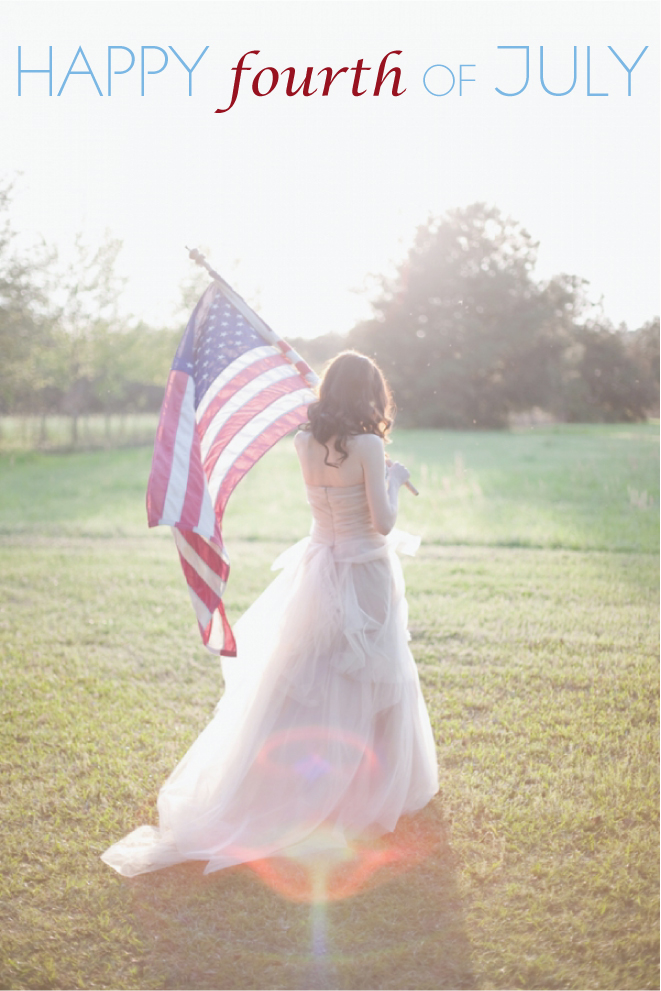 Happy Fourth of July! = Patriotic Wedding Inspiration Parade