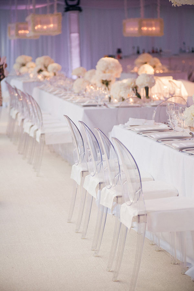 All-White Wedding Decor