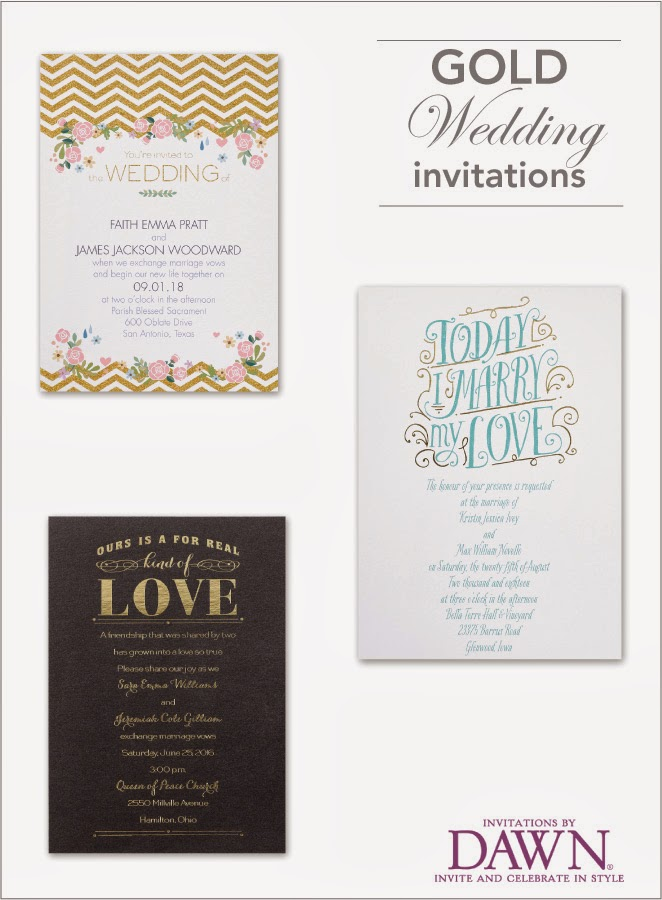 All that Glitters is Gold with Invitations by Dawn