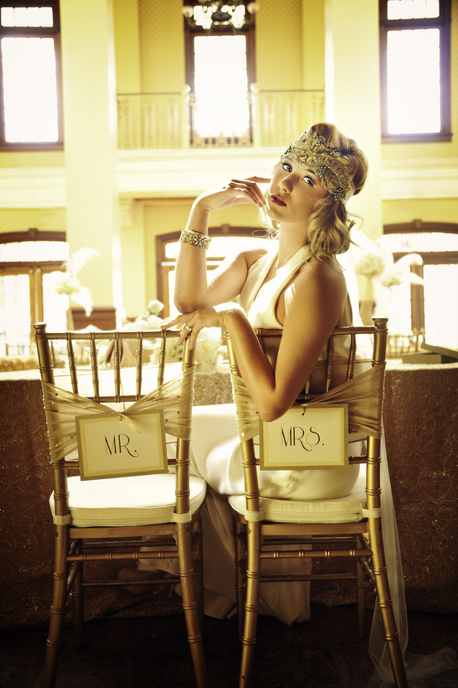 "Great Gatsby Wedding Inspiration: ""All that Glitters is Gold"""