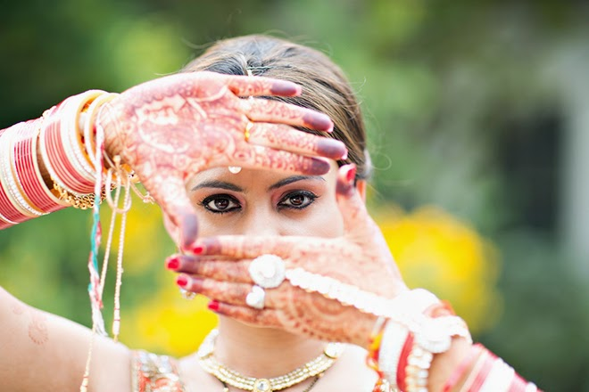Gold and Fucshia Cultural Indian Wedding