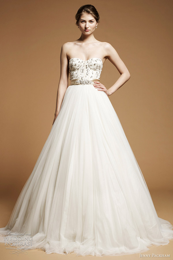 The dress of the week jenny packham bridal 2012 belle the magazine junglespirit Image collections