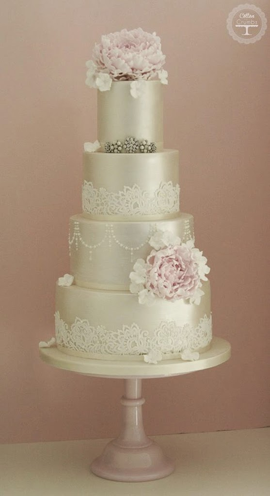 Lace Design Wedding Cake : Lace Wedding Cakes - Belle The Magazine