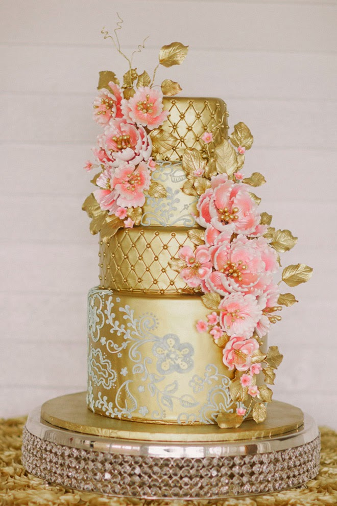 Metallic Wedding Cakes