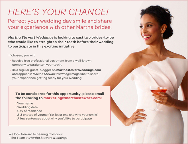 Martha Stewart Weddings Is Looking For You!