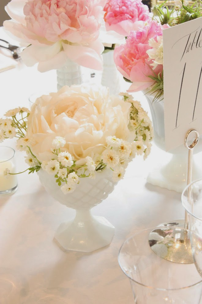 Currently Obsessed with Milk Glass Wedding Details