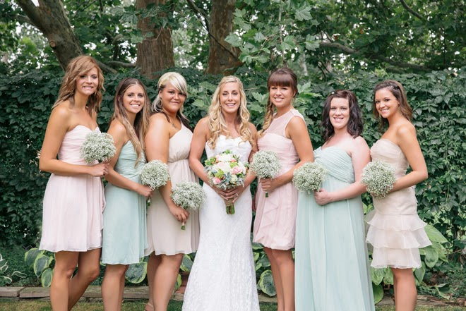 Charming Mint, Beige and Blush DIY Outdoor Wedding