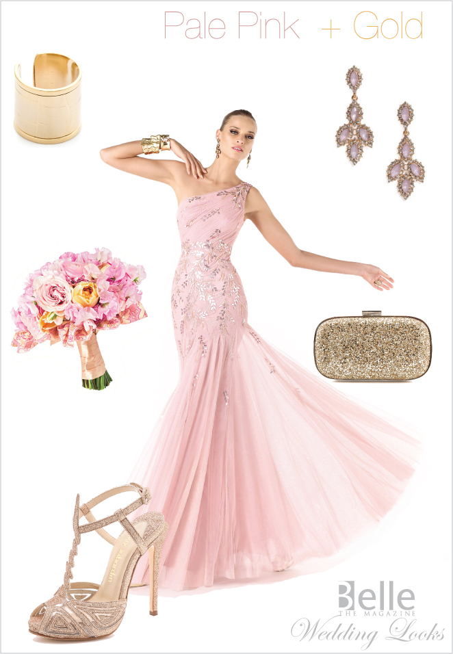 Wedding Day Look: Pale Pink + Gold