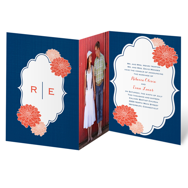 Photo Wedding Invitations From Invitations By Dawn Belle The Magazine
