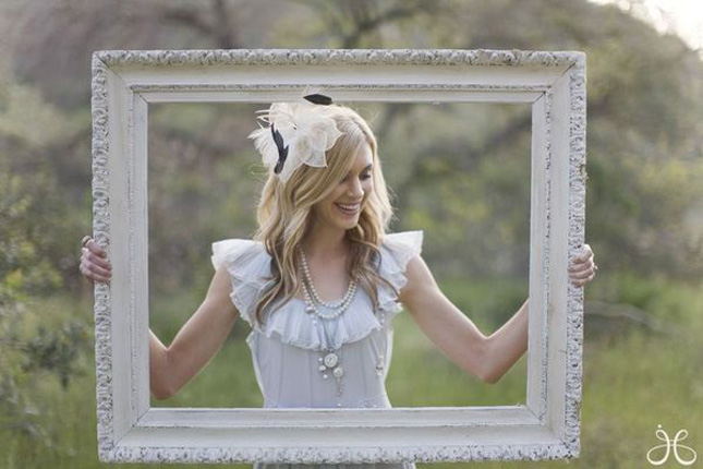 10 creative ways to add frames to your wedding belle the magazine im loving this modern and this vintage frame displays junglespirit Image collections