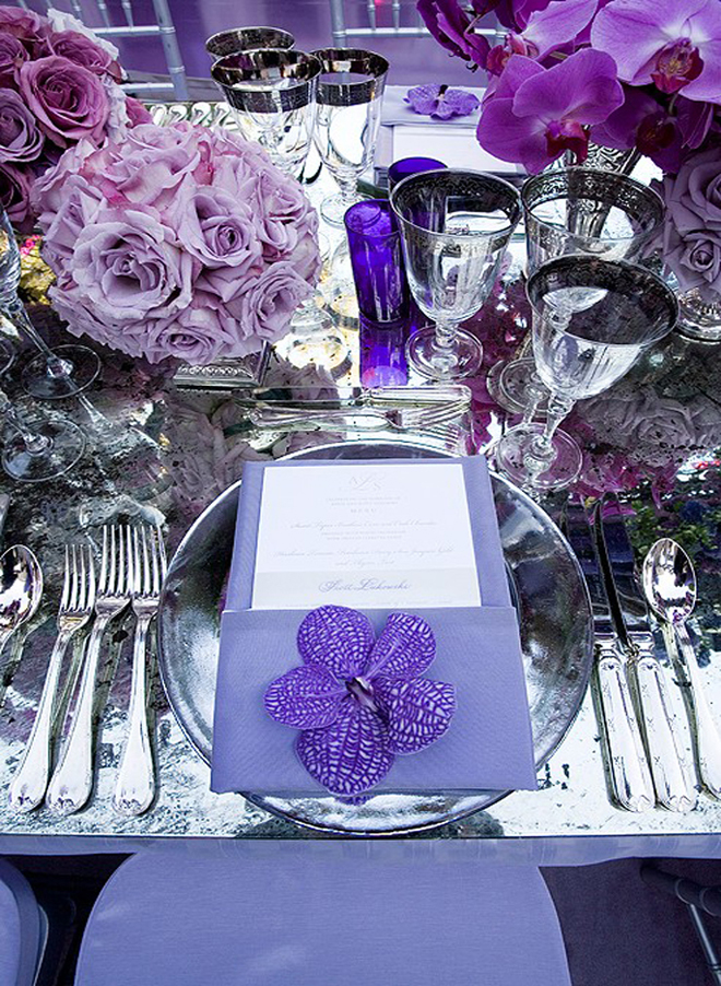 Place settings wedding receptions belle the magazine Place setting ideas