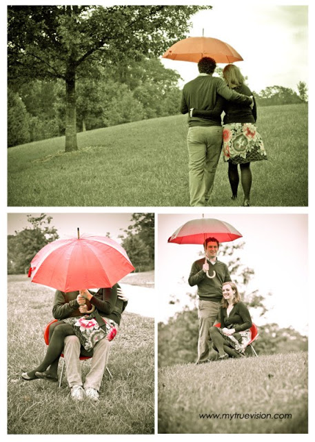 Under the Rain Engagement Session by Vision Photography