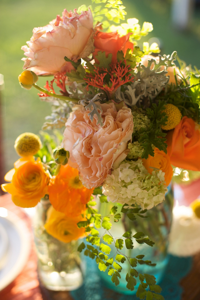 Rustic Tangerine Tango Wedding Inspiration