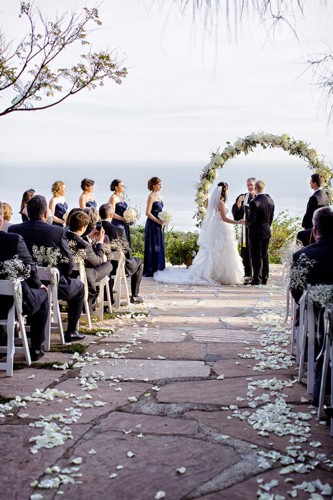winter wonderland wedding in malibu california belle