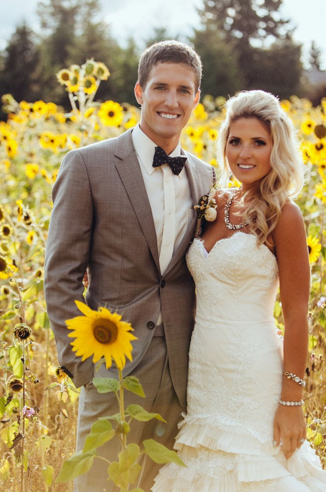 Real Wedding: Sunflowers and Love