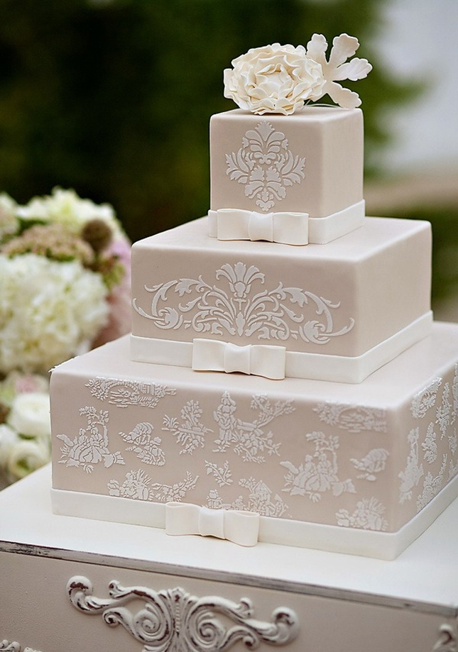 wedding cake parts wedding trends lace cakes part 3 the magazine 23383