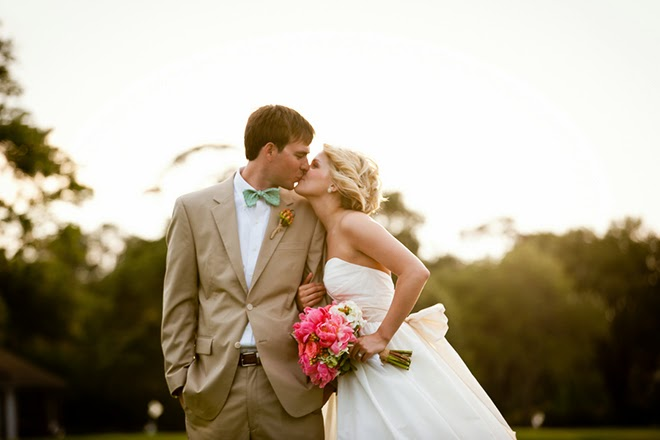 Orange and Coral Spring Wedding