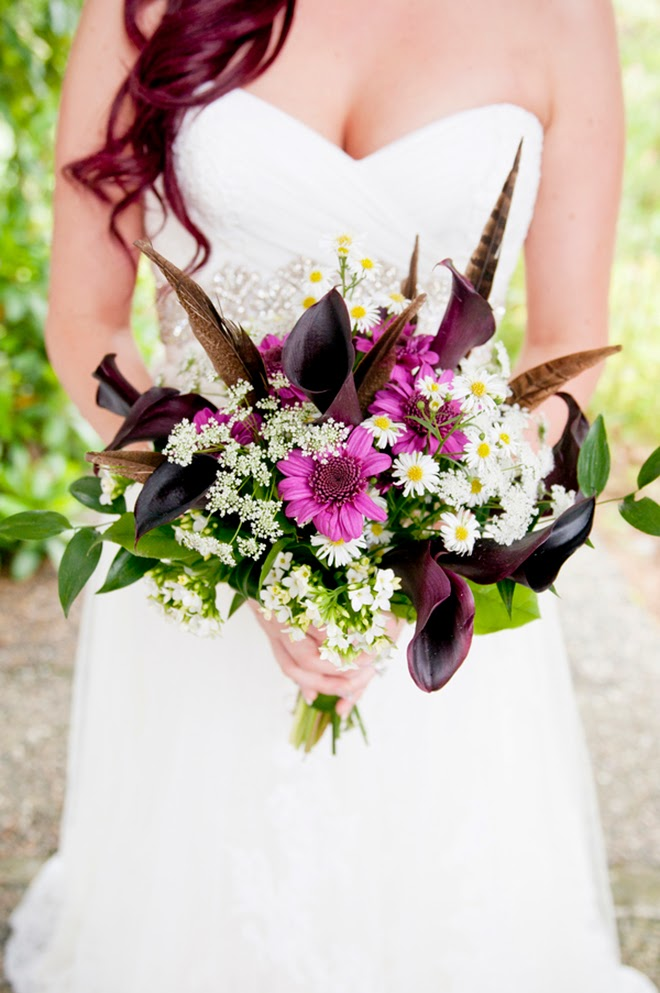 Enchanted Forest Wedding with a Touch of Magenta