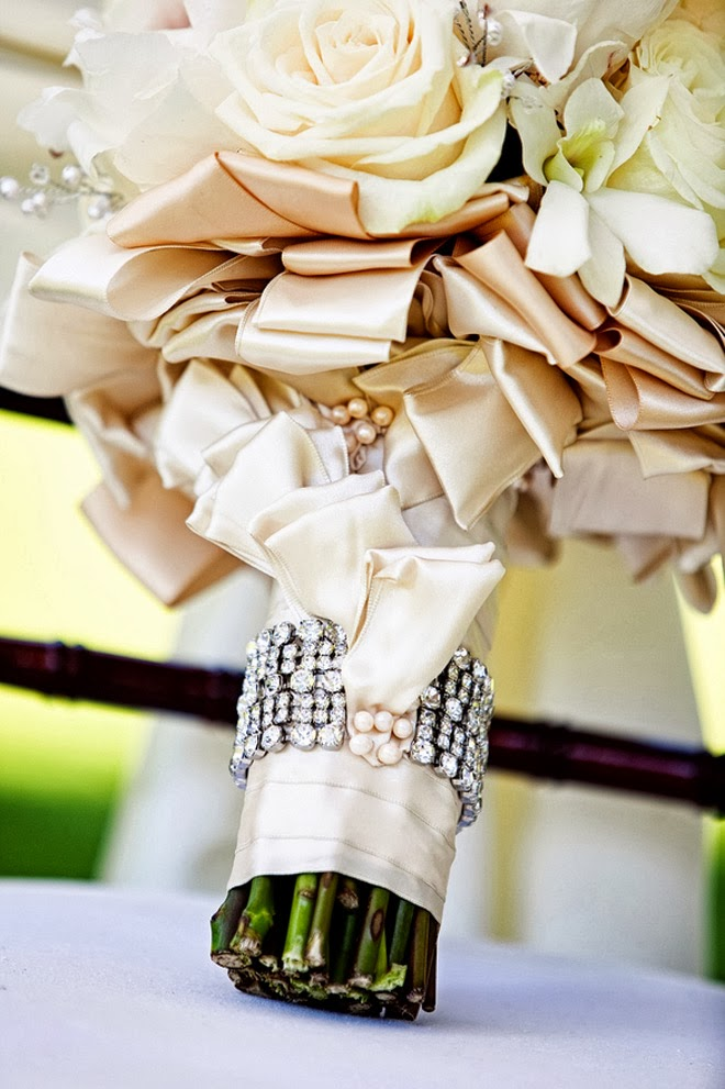 Wedding Bouquet Wraps Holders And Handles Ideas Belle