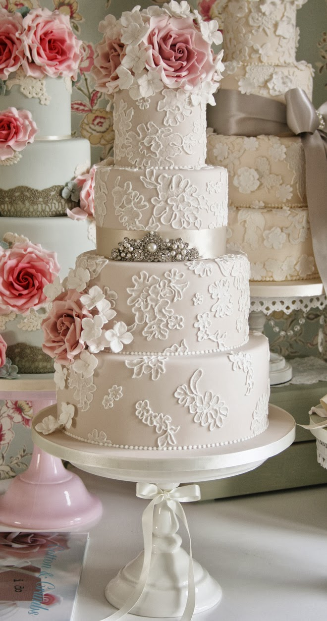Gorgeous Lace Wedding Cakes