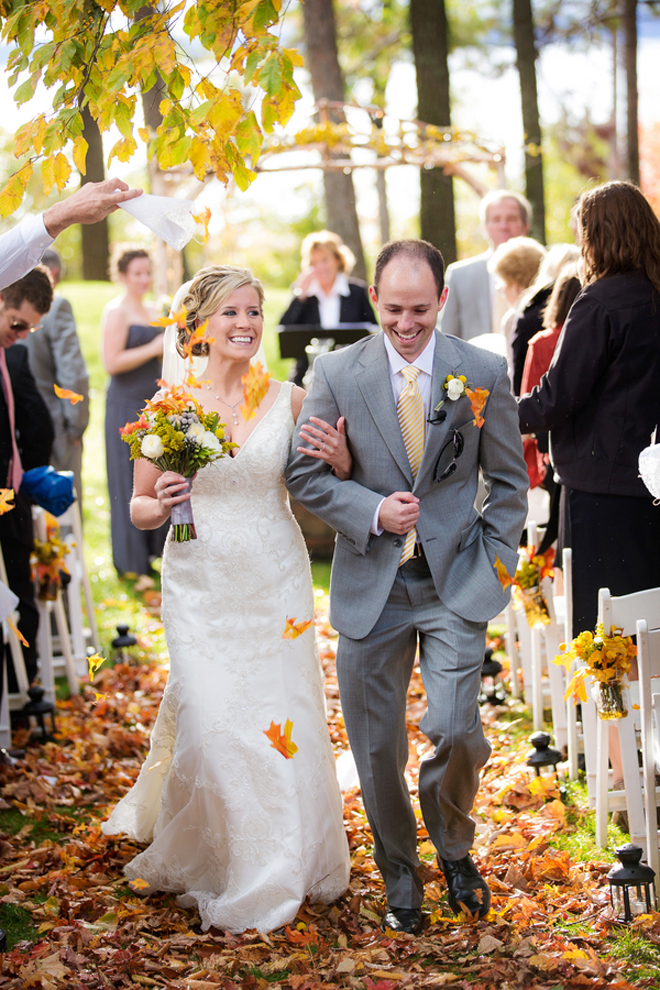 Organic + Pretty Autumn Wedding