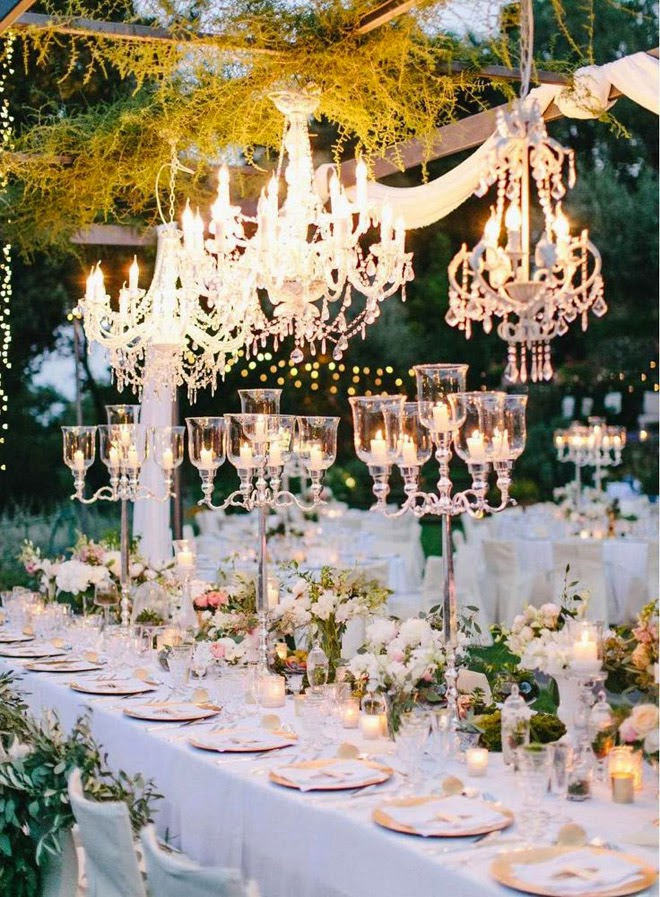 Taking your Wedding to the Next Level with Chandeliers