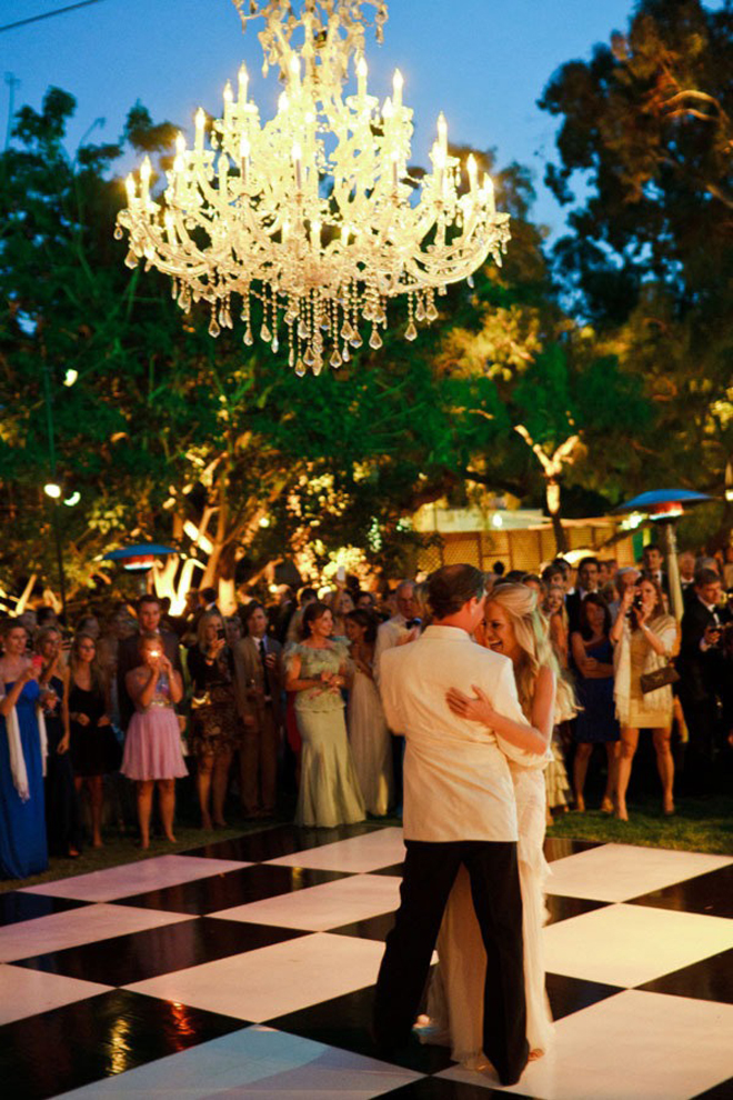Chandeliers and Outdoor Weddings