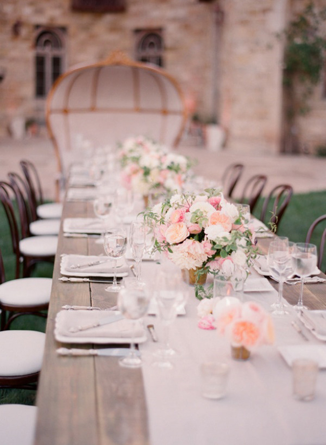 If You Are A Frequent Of Belle Know We Mega Obsessed With Long Tables For Wedding Receptions See All Our Roundups Table Ideas At The