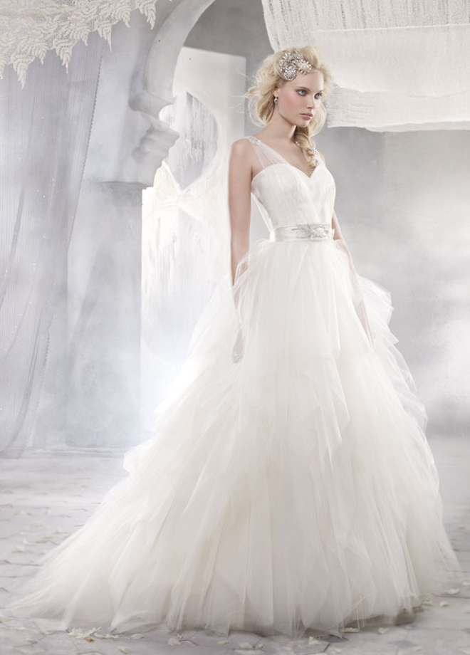 Alvina valenta 2012 bridal collection dress of the week for V neck strapless wedding dress