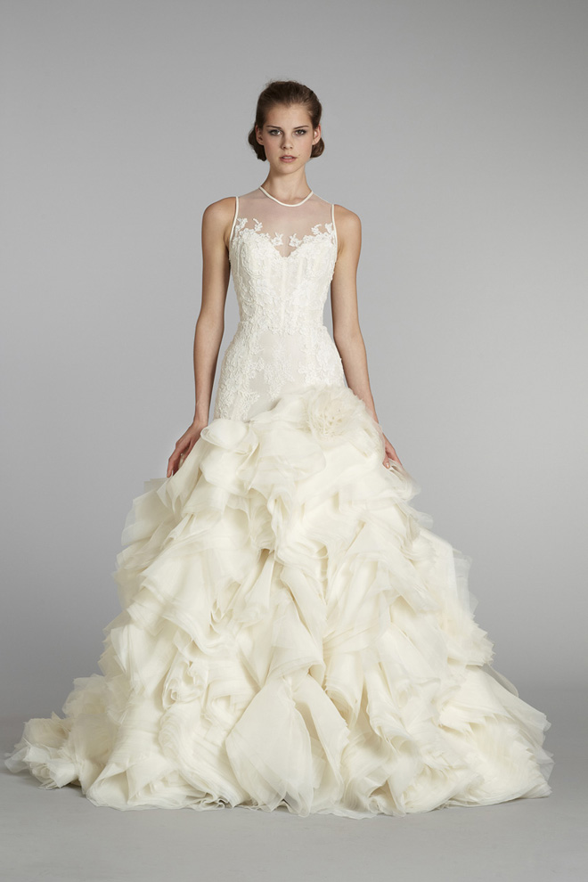 Lazaro bridal fall 2012 my dress of the week belle the for What to do with my wedding dress