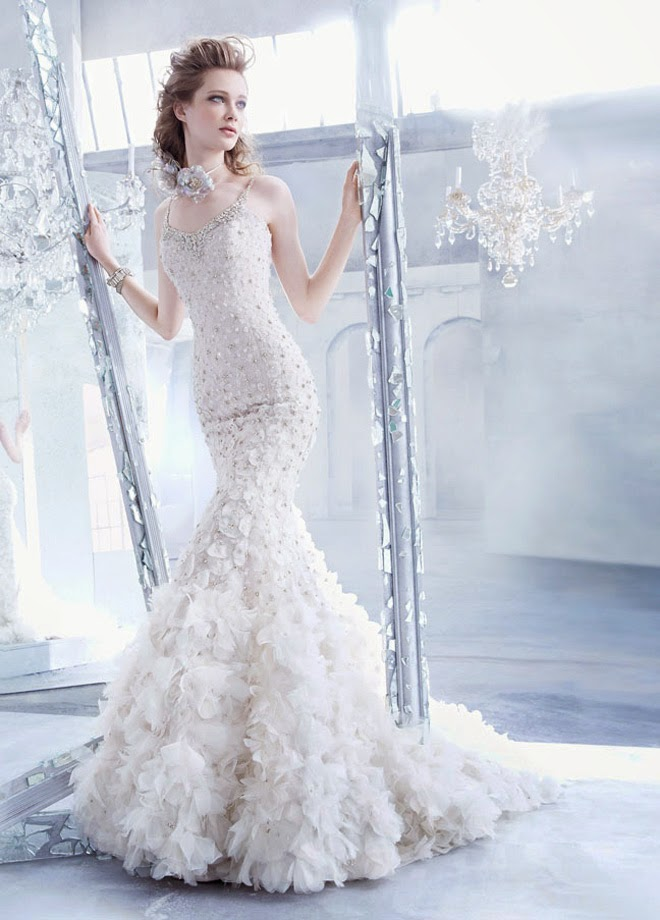 Lazaro fall 2014 bridal collection belle the magazine for Where to buy lazaro wedding dresses