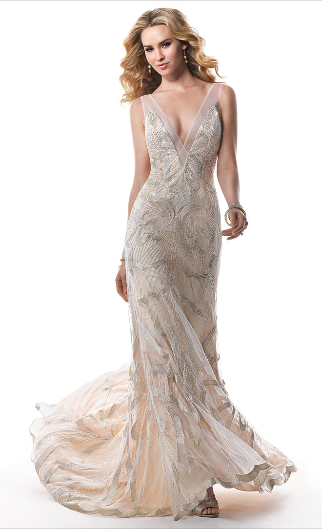 Finest Maggie Sottero Bridal Collection With Old Hollywood Glamour Wedding Dress