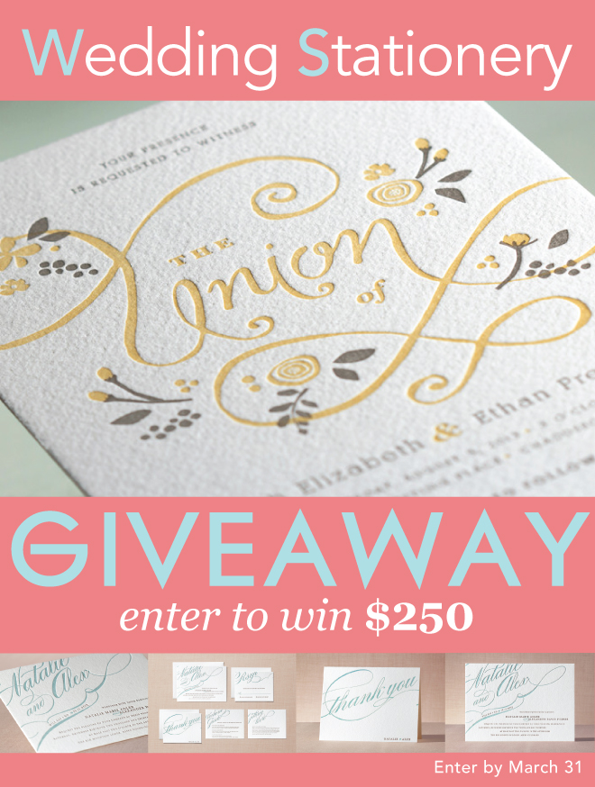 Introducing Minted Letterpress Invitations + Giveaway