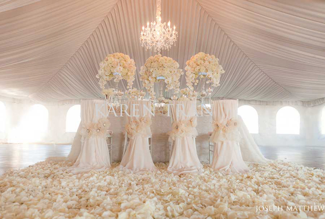 Crystal Table Decorations Wedding