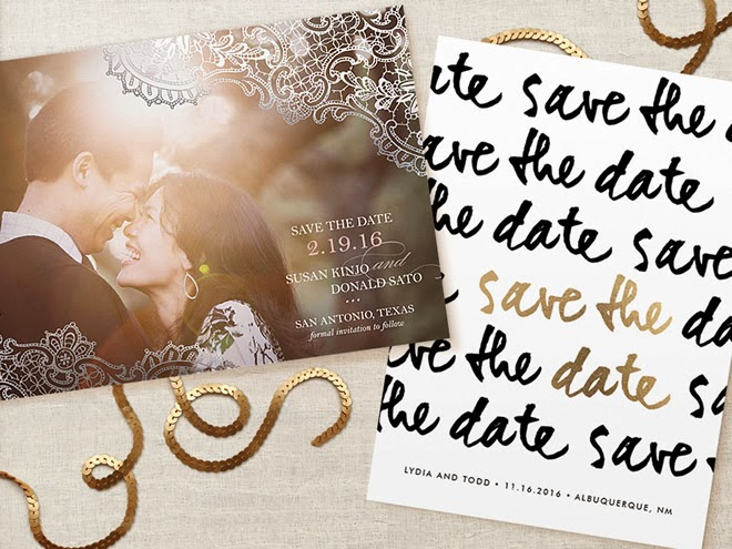 New! Foil-Pressed Save the Dates by Minted + Discount